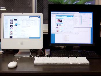 iMacのDualディスプレイ