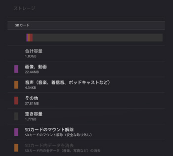 au版Android 3.1 / SDカード対応